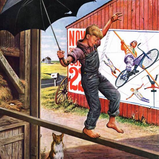 Stevan Dohanos Saturday Evening Post Walk 1949_06_11 Copyright crop | Best of Vintage Cover Art 1900-1970