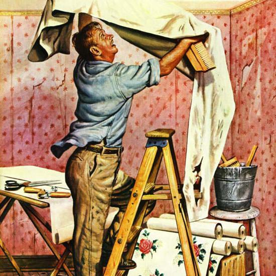 Stevan Dohanos Saturday Evening Post Wall 1949_11_26 Copyright crop | Best of Vintage Cover Art 1900-1970