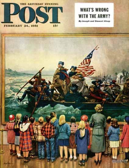Stevan Dohanos Saturday Evening Post Washington Delaware 1951_02_24 | The Saturday Evening Post Graphic Art Covers 1931-1969