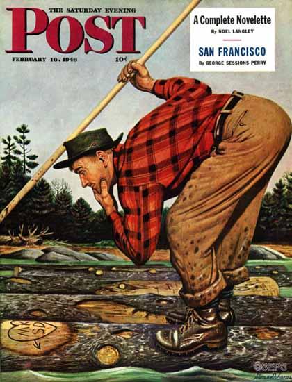 Stevan Dohanos Saturday Evening Post Whose Initials 1946_02_16   The Saturday Evening Post Graphic Art Covers 1931-1969
