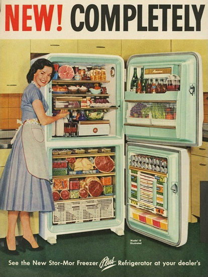 Stor-Mor Freezer Refrigerator | Sex Appeal Vintage Ads and Covers 1891-1970