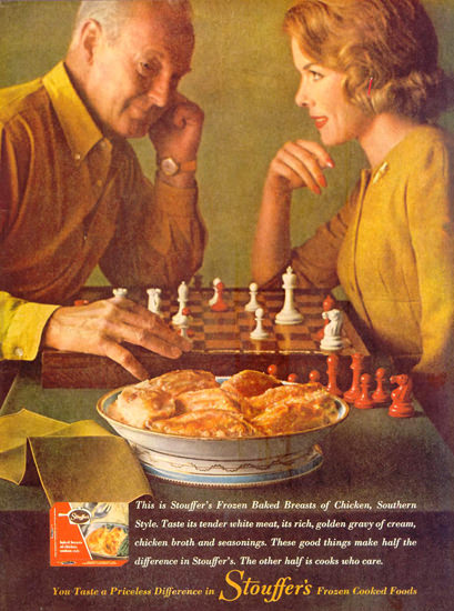 Stouffer Frozen Cooked Foods 1961   Vintage Ad and Cover Art 1891-1970