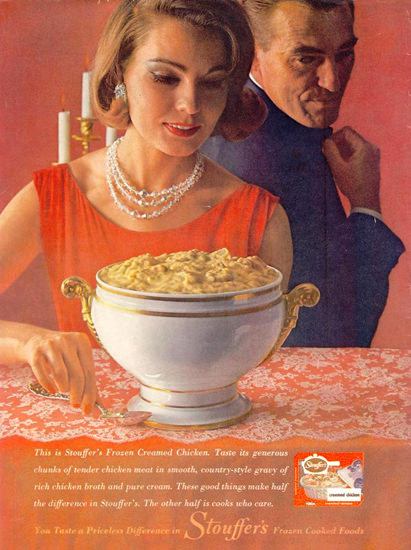 Stouffer Frozen Cooked Foods 1962 | Vintage Ad and Cover Art 1891-1970