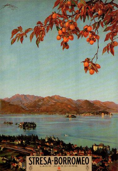 Stresa-Borromeo Lago Maggiore Lake Maggiore | Vintage Travel Posters 1891-1970