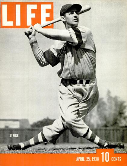 Strike Baseball 25 Apr 1938 Copyright Life Magazine | Life Magazine BW Photo Covers 1936-1970