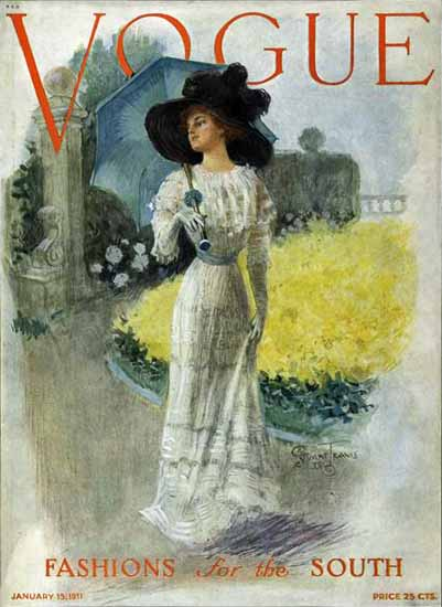 Stuart Travis Vogue Cover 1911-01-15 Copyright | Vogue Magazine Graphic Art Covers 1902-1958