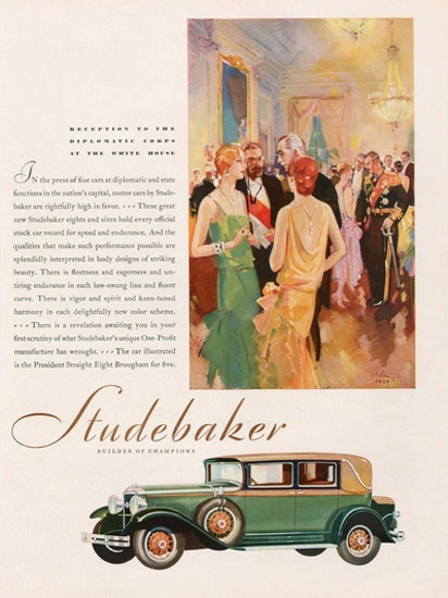 Studebaker Automobile Builder For Champions | Vintage Cars 1891-1970