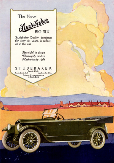Studebaker Big Six 7 Passenger Touring Car 1918 | Vintage Cars 1891-1970