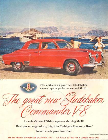 Studebaker Commander V-8 120 HP 1951 Beach | Vintage Cars 1891-1970
