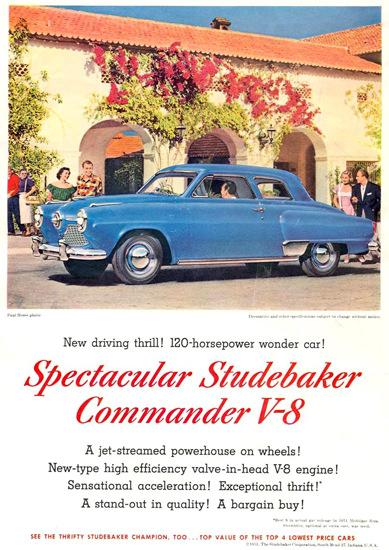 Studebaker Commander V-8 120 HP 1951 Villa   Vintage Cars 1891-1970