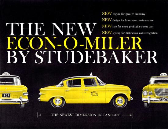 Studebaker Econ O Miler Taxicab 1959 | Vintage Cars 1891-1970