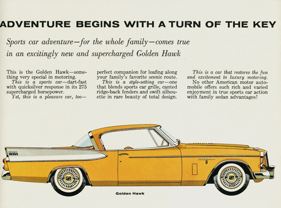 Studebaker Golden Hawk 1957 | Vintage Cars 1891-1970
