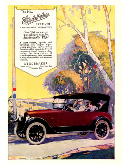 Studebaker Light Six Club Roadster 1918 Detroit | Vintage Cars 1891-1970