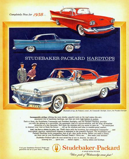 Studebaker-Packard Hardtops 1958 | Vintage Cars 1891-1970