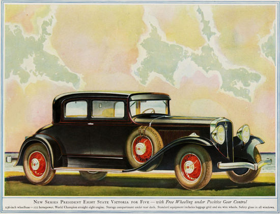 Studebaker President Eight State Victoria 1931 | Vintage Cars 1891-1970