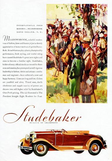 Studebaker President Straight Eight Roadster 1929 | Vintage Cars 1891-1970