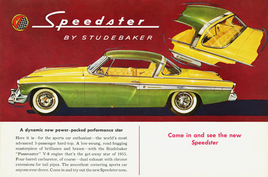 Studebaker Speedster 1955 Green Yellow | Vintage Cars 1891-1970