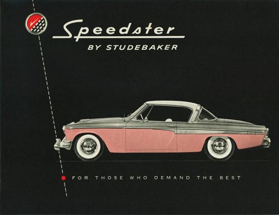 Studebaker Speedster 1955 Pink | Sex Appeal Vintage Ads and Covers 1891-1970