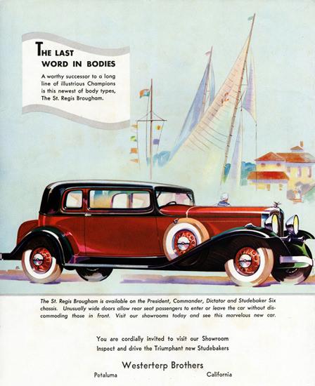 Studebaker St Regis Brougham 1932   Vintage Cars 1891-1970