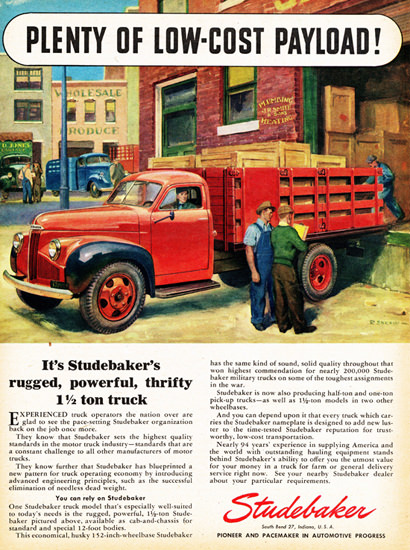 Studebaker Stake Truck 1946 Low Cost Payload | Vintage Cars 1891-1970
