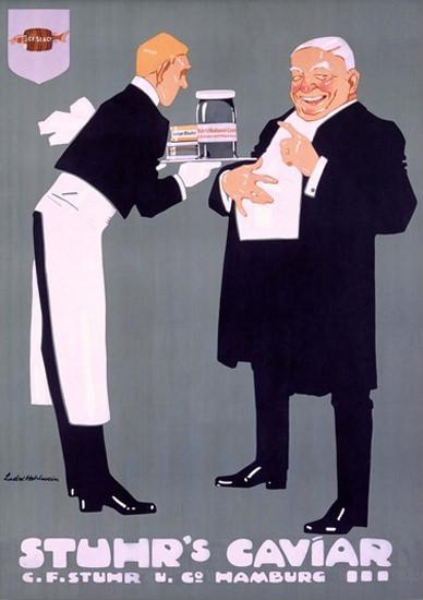 Stuhrs Caviar C F Stuhr Hamburg Germany | Vintage Ad and Cover Art 1891-1970