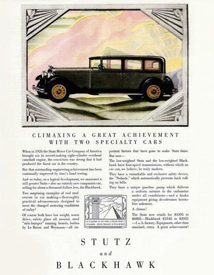 Stutz Blackhawk Body Le Baron Weymann 1929 | Vintage Cars 1891-1970