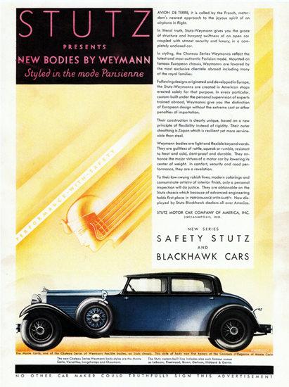 Stutz Blackhawk Monte Carlo Body Weymann 1930 | Vintage Cars 1891-1970