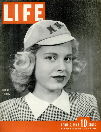 Sub-Deb Clubs 2 Apr 1945 Copyright Life Magazine | Life Magazine BW Photo Covers 1936-1970