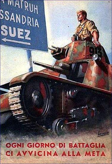 Suez Ogni Giorno Di Battaglia Avvicina Alla Meta | Vintage War Propaganda Posters 1891-1970