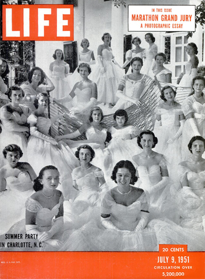 Summer Party in Charlotte NC 9 Jul 1951 Copyright Life Magazine | Life Magazine BW Photo Covers 1936-1970