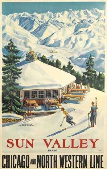 Sun Valley Idaho Chicago North Western 1940 | Vintage Travel Posters 1891-1970