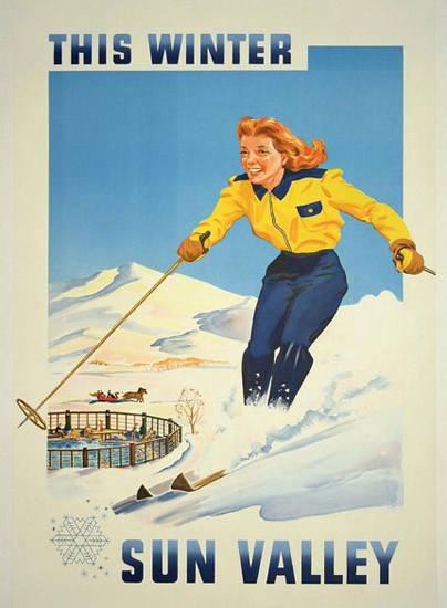 Sun Valley Skiing This Winter | Sex Appeal Vintage Ads and Covers 1891-1970