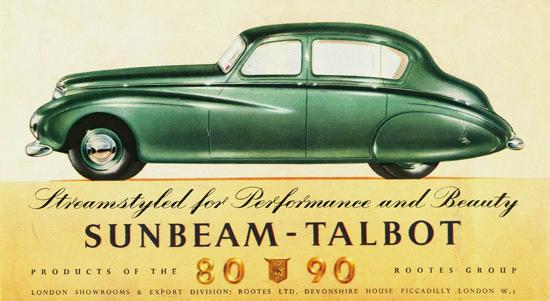 Sunbeam Talbot Saloon 1949 | Vintage Cars 1891-1970