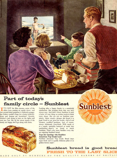 Sunblest Bread 1950 Slide Show | Vintage Ad and Cover Art 1891-1970