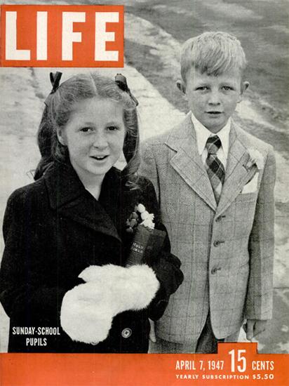 Sunday-School Pupils 7 Apr 1947 Copyright Life Magazine | Life Magazine BW Photo Covers 1936-1970
