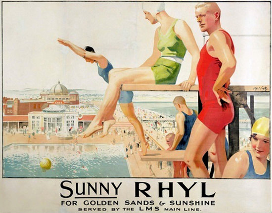 Sunny Rhyl For Golden Sands And Sunshine LMS Swimming Pool | Sex Appeal Vintage Ads and Covers 1891-1970