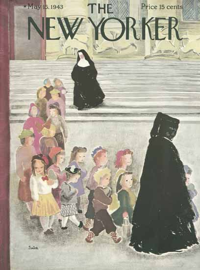 Susanne Suba The New Yorker 1943_05_15 Copyright | The New Yorker Graphic Art Covers 1925-1945