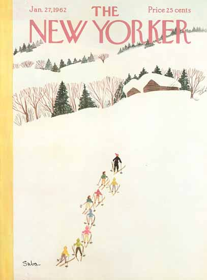 Susanne Suba The New Yorker 1962_01_27 Copyright | The New Yorker Graphic Art Covers 1946-1970