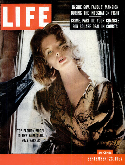 Suzy Parker Top Fashion Model 23 Sep 1957 Copyright Life Magazine | Life Magazine Color Photo Covers 1937-1970
