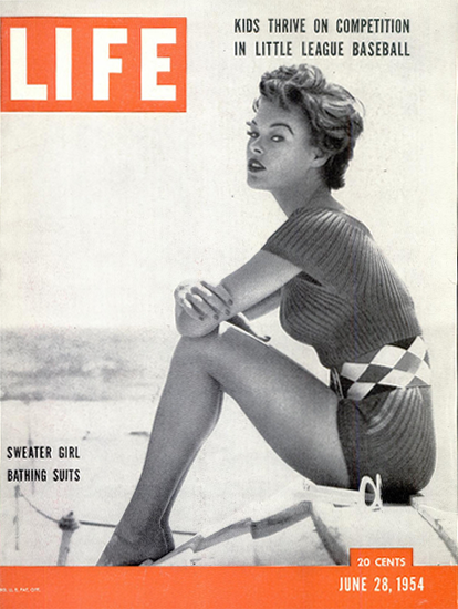 Sweater Girl Bathing Suits 28 Jun 1954 Copyright Life Magazine | Life Magazine BW Photo Covers 1936-1970