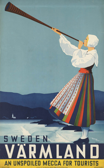 Sweden Vaermland Unspoiled Tourist Mecca 1936 | Vintage Travel Posters 1891-1970