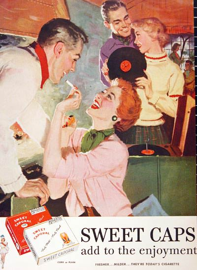 Sweet Caporal 1955 Sweet Caps Music | Sex Appeal Vintage Ads and Covers 1891-1970