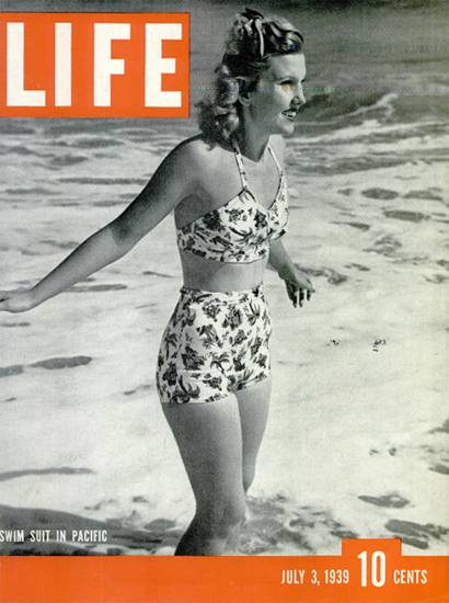 Swim Suit in Pacific 3 Jul 1939 Copyright Life Magazine | Life Magazine BW Photo Covers 1936-1970