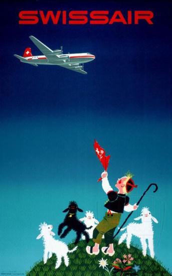 Swissair 1950s | Vintage Travel Posters 1891-1970