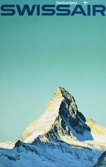 Swissair Switzerland Zermatt Matterhorn 1960s | Vintage Travel Posters 1891-1970