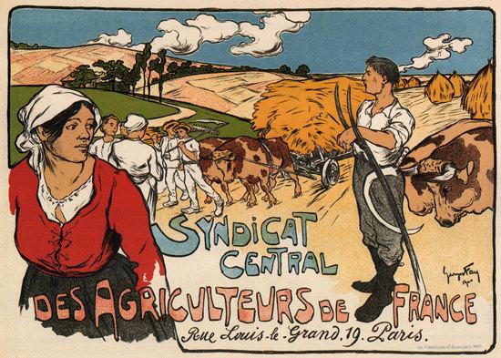 Syndicat Central Des Agriculteurs De France | Vintage Ad and Cover Art 1891-1970