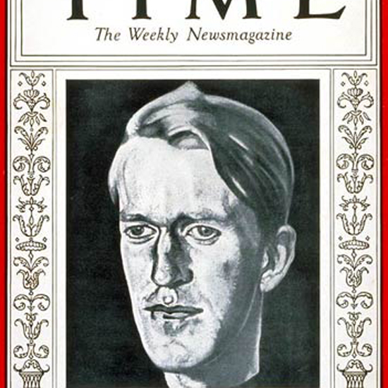 T E Lawrence Time Magazine 1932-11 crop   Best of Vintage Cover Art 1900-1970