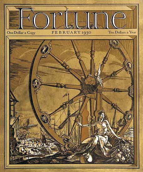 TM Cleland Fortune Magazine February 1930 Copyright | Fortune Magazine Graphic Art Covers 1930-1959