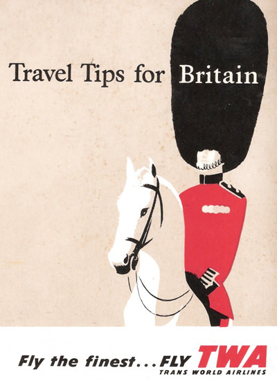 TWA Airlines Britain 1956 Royal Palace Guard | Vintage Travel Posters 1891-1970