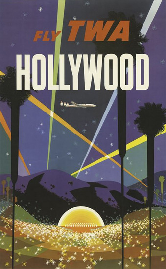 TWA Hollywood Super Constellation 1960s Klein | Vintage Travel Posters 1891-1970
